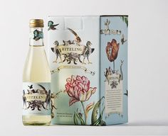 Ritzling package design- designed to capture the sense of celebration owned by champagne and bubbles. Beautiful illustrations!