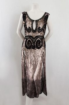 French sequined tulle evening dress, c.1923, from the Vintage Textile archives.