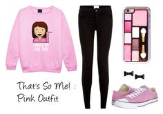 """""""That's So Me! - Pink Outfit"""" by flowerchild47 on Polyvore featuring Converse and Marc by Marc Jacobs"""