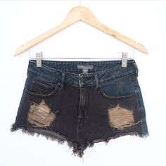 ⬇️Today Only! Kendall & Kylie denim shorts Distressed black/blue/brown colored shorts. Kendall & Kylie Shorts Jean Shorts