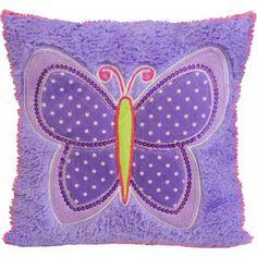 Mainstays Kids Decorative Pillow, Butterfly Patches - Walmart.com