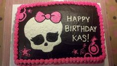 joaniecakes: Monster High - for Natalie's birthday! Monster High Birthday Cake, Monster High Cakes, Monster High Party, Birthday Cake Pictures, Birthday Cake Decorating, Party Themes, Theme Ideas, Party Ideas, Amazing Cakes