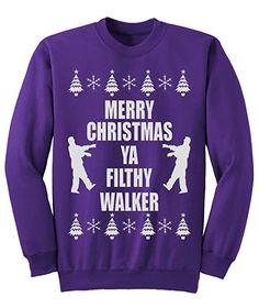 Mens women Merry CHRISTMAS yA fILTHY Walker jumper Sweatshirt NEW S-XXL: Amazon.co.uk: Clothing