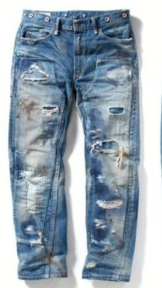 Bohemian Style Men, Funky Pants, Work Jeans, Patched Jeans, Dress With Sneakers, Destroyed Jeans, Hippie Outfits, Denim Outfit, Vintage Jeans