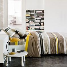 Parure housse de couette + taie(s), Raya taupe