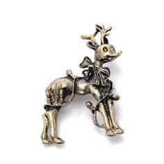 Retro Stylish Christmas Deer Decor Brooch - Bronze#http://tinyurl.com/nqr23ow
