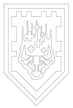 Kids-n-fun.com | Coloring page Lego Nexo Knights shields-3