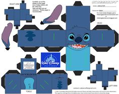 Stitch from Lilo & Stitch in Cubee form!! Just click on the download link to download the pattern. Then cut out the shapes and construct (no tape or glue needed!!).