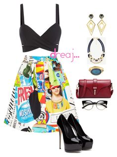 Untitled #215 by dreajj on Polyvore featuring polyvore fashion style Moschino Ann Taylor Sarah Magid ZeroUV clothing