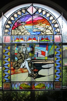 Stained glass memorial of my mother...took approximately a month and a half. From last known photo of her. Check out video of the creation process.