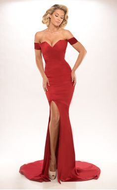 d694b57f46 Simple New Arrival Charming Burgundy Red Satin Cap Sleeves Mermaid  Sweetheart With Split Formal Long Evening Dresses For Party-in Evening  Dresses from ...