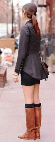 love boots and jacket, not sure during cold weather about the shorts....