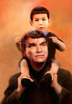 Spock and Sarek. Possibly the best star trek art I have ever seen. Star Trek Spock, Star Wars, Star Trek Tos, Star Trek Original Series, Star Trek Series, Alien Nation, Akira, Science Fiction, Herbert Lom