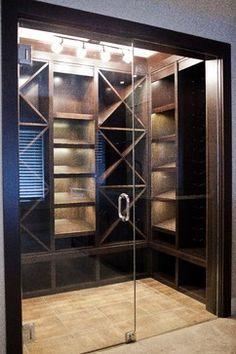 door for wine storage