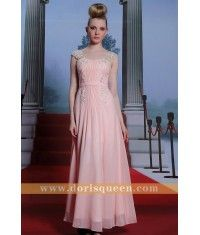 A-line chiffon sweet-heart pink dress 30936