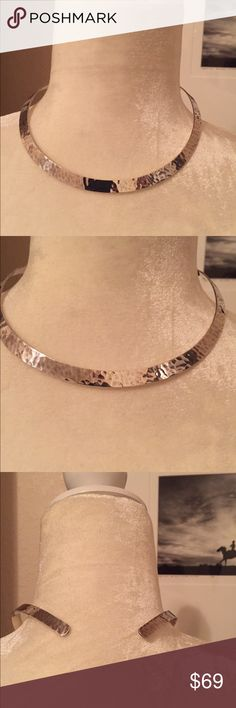 James Avery Sterling Silver Choker Necklace James Avery Sterling Silver hammered choker necklace. The open back allows it to fit everyone. Pristine condition James Avery Jewelry Necklaces