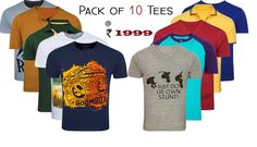 DISCRIPTION:-Pack of Round Neck/V-Neck /Henley/Polo Tshirt (Solids/Printed/Stripe)Wanna go on an expedition or a vacation or a trek? You have landed on the right page.Keep it cool and casual with this trendy tee.These comfortable and stylish T-shirts a