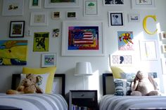 """The more I post about shared rooms, the more feedback I get that they're the hardest to find great inspiration from. So I'm going to continue and do a roundup of shared """"big"""" boys rooms. Be Still My Heart: Shared Big Boy Rooms It's really no surprise that this boys shared room is on the list. Melissa Fluhr is the co-founder of Project Nursery. Project Nursery, if you haven't discovered it already, is a fantastic…"""