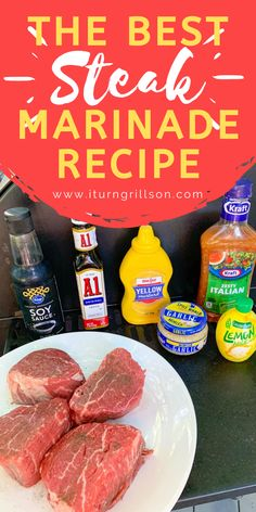 Grab this easy steak marinade recipe for grilling. It's the BEST steak marinade, full of flavor, and easy to make with ingredients from your fridge. This tenderizing marinade is perfect for tenderloins, ribeyes, flank steaks, skirt steaks, and more and is super quick and simple. #steak #marinade #grilling Steak Marinade Recipes, Steak Kabobs, Strip Steak, Best Steak, Flank Steak, Steaks, Family Meals, Grilling, Yummy Food