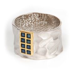 silver 925° Gem(s): sapphire Plated: rhodium gold