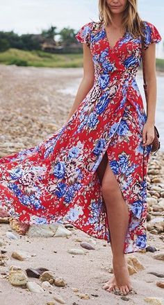 This maxi wrap dress but in polka dot please