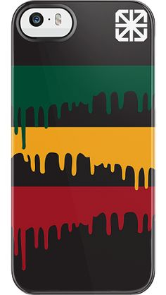 """""""Rasta Drip"""" by The Seventh Letter for the iPhone 5/5s Black Bezel Deflector"""