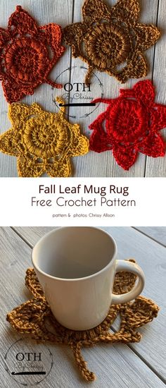 Crochet Leaves, Knit Or Crochet, Crochet Gifts, Hand Crochet, Free Crochet, Crochet Dog Patterns, Sewing Patterns, Crochet Ideas, Yarn Projects