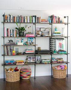Luv this shelving installation -  from the home of Amber at Style Me Pretty