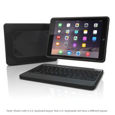 ZAGG Rugged Book Durable Case with Detachable Backlit Bluetooth Keyboard for Apple iPad Pro and iPad Air 2 (not made for 2017 Gen - Black Ipad Air 2 Cases, Ipad Case, Best Ipad, Ipad Mini 2, Ipad Pro, Apple Ipad, Cool Things To Buy, Book, Bluetooth Keyboard
