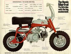 A Honda Minitrail 50.neighbor kid had one when I was a kid. Fun bike.