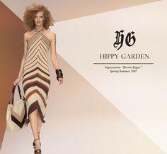 "Hippy Garden Masarykova 5 www.hippygarden.com  Spring/Summer 2007 – ""Brown Sugar"" http://hippygarden.net/the-brown-sugar-springsummer-2007/?lang=en  #fashion #brand #design #hippygarden #croatia #masarykova5 #brownsugar #brown #dress #bag"