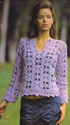 Blusa hecha a pedido verano elegante ganchillo RI92