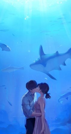 ImageFind images and videos about art, couple and anime on We Heart It - the app to get lost in what you love. Cute Couple Art, Anime Love Couple, Cute Anime Couples, Japon Illustration, Love Illustration, Image Manga, Couple Drawings, Anime Scenery, Love Art