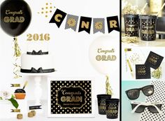 Event Blossom has new metallic #gold #graduation #party favors, supplies and decorations! #classof2016