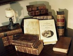 Old books...the smell, the look, the words...