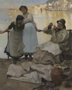 "Bramley Frank ""Eyes and No Eyes"" 1885 Oil on canvas."
