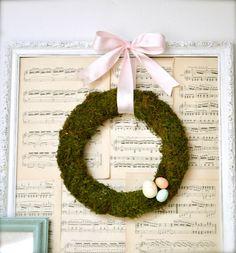make a spring moss wreath {tutorial} | Little Birdie Secrets