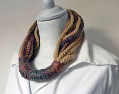 Neck warmer cowl  crochet. Beige burgundy green brown by ylleanna, €52.00