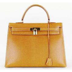 Hermès Tan Porc Leather 'Kelly' 35 Bag