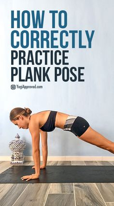 Yoga Poses & Tutorials : Plank Pose is not easy, but with alignment and awareness, this strength-building pose can be your new best friend! Here's how to practice Plank correctly. Yoga Poses For Beginners, Workout For Beginners, Planks For Beginners, Become A Yoga Instructor, Plank Pose, Plank Workout, Restorative Yoga, Yoga Routine, Yoga Benefits
