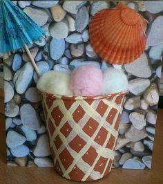 Summer Card with ice cream - Καλοκαιρινή Κάρτα Παγωτό