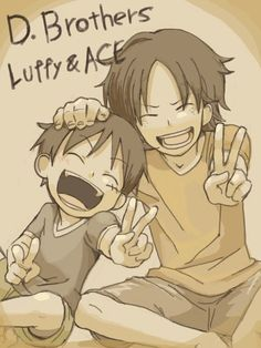 Portgas D. Ace and Monkey D. Luffy #one piece