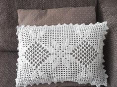 Crochet Pattern Very Romantic Cushion Coverfilet crochet image 1 Crochet Pillow Cases, Crochet Cushion Cover, Crochet Pillow Pattern, Pillowcase Pattern, Crochet Cushions, Crochet Patterns, Crochet Case, Easy Crochet, Crochet Ideas