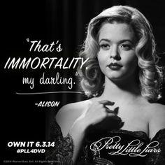 My darlings... Mi frase favorita de Alison.