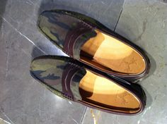 Zara Men's Camouflage loafers Zara.com $89.50