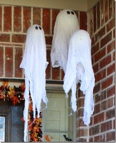 Urban Farmhouse: Pottery Barn Halloween Hanging Ghost Tutorial