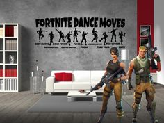 Lucky Girl Decals Vinyl Wall Decor Sticker Fortnite Dance Moves Inches Wide By 12 Inches High For Gamer