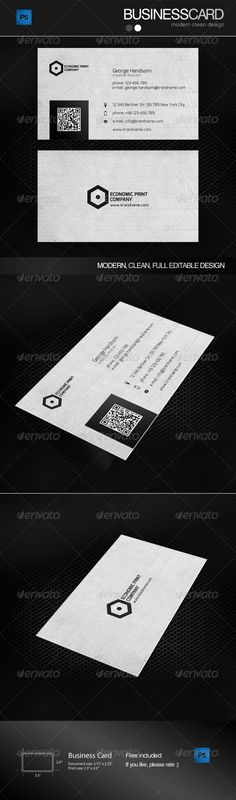 Three Business Card With Stripes — PSD Template #deisgn #vector #business…