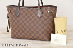 Louis Vuitton Damier Ebene Neverfull PM Tote Shoulder Bag N51109