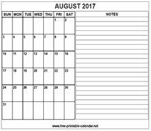 printable 2017 august calendar